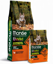 Сухой корм Monge Dog BWILD GRAIN FREE Duck&Patato 15 кг