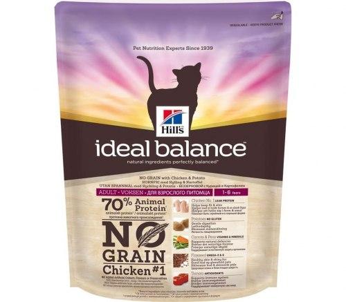 Сухой корм Hill's Ideal Balance No Grain натуральный беззерновой сухой корм для кошек с курицей и картофелем 300 г