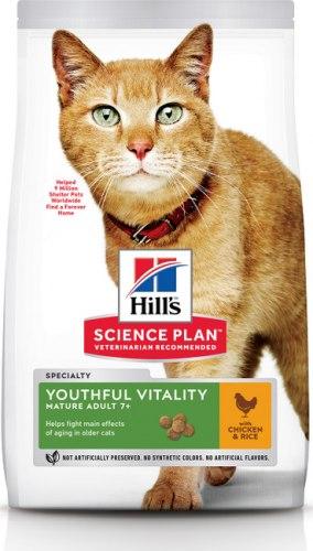 Сухой корм Hill's Science Plan Youthful Vitality для пожилых кошек (7+), с курицей 1,5 кг