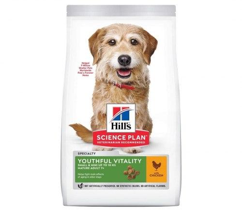 Сухой корм Hill's Science Plan Youthful Vitality для пожилых собак (7+)мелких пород, с курицей и рисом 250г