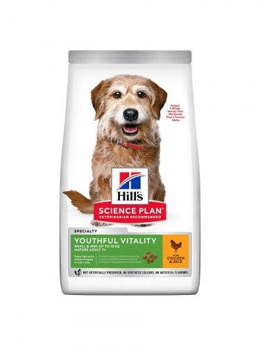 Сухой корм Hill's Science Plan Youthful Vitality для пожилых собак (7+)мелких пород, с курицей и рисом 1,5 кг