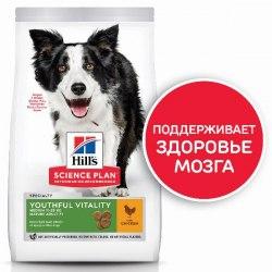 Сухой корм Hill's Science Plan Youthful Vitality для пожилых собак (7+)мелких пород, с курицей и рисом 12 кг