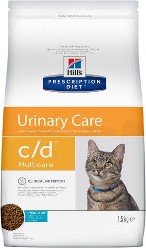 Сухой корм Hill's Prescription Diet c/d Multicare Urinary Care сухой корм для кошек с рыбой 1,5 кг