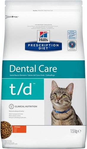 Сухой корм Hill's Prescription Diet t/d Dental Care с курицей 1,5 кг