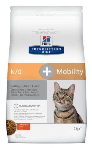 Сухой корм Hill's Prescription Diet k/d + Mobility Kidney + Joint Care с курицей 2 кг