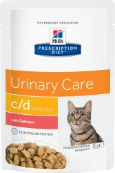 Влажный корм Hill's Prescription Diet c/d Multicare Urinary Care с лососем 12шт/85 г