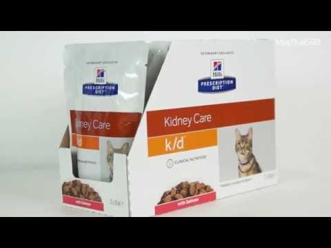 Влажный корм Hill's Prescription Diet k/d Kidney Care с лососем 12шт/85 г