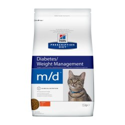 Сухой корм Hill's Prescription Diet m/d Diabetes/Weight Management с курицей для кошек 1,5 кг