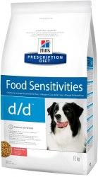 Сухой корм Hill's Prescription Diet d/d Food Sensitivities для собак с лососем и рисом 12 кг
