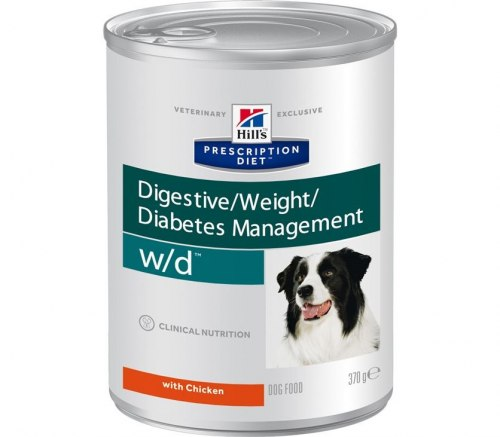 Влажный корм Hill's Prescription Diet w/d Digestive/Weight/Diabetes Management с курицей 370 г