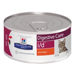 Влажный корм Hill's Prescription Diet i/d Digestive Careдля кошек, с курицей 156г