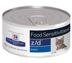 Влажный корм В НАЛИЧИИ Hill's Prescription Diet z/d Food Sensitivities для кошек 156г