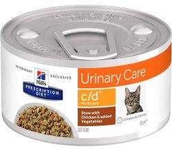 Влажный корм Hill's Prescription Diet c/d Multicare Рагу, с курицей и добавлением овощей для кошек 82 г
