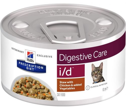 Влажный корм Hill's Prescription Diet i/d Рагу, с курицей и добавлением овощей для кошек 82 г