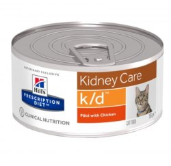 Влажный корм Hill's Prescription Diet k/d Kidney Care для кошек с курицей 156 г