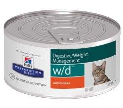 Влажный корм Hill's Prescription Diet w/d Digestive/Weight Management для кошек с курицей 156г