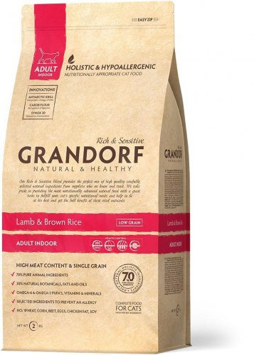 Сухой корм Grandorf CAT Lamb&Rice INDOOR 2 кг.