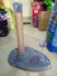 Когтеточка-столбик с мячиком на пружине 50см, джут