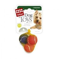 Игрушка Goods for pets Мяч малый, с пищалкой, теннисный фетр, 4,8 см, 1 шт