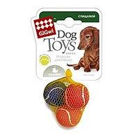 Игрушка Goods for pets Мяч средний, с пищалкой, теннисный фетр, 6,3 см, 1 шт