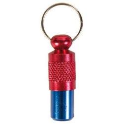 Брелок TRIXIE для собак адресный, металл, красно-синий