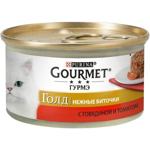 Консерва Gourmet Gold нежные биточки, с говядиной и томатами, 85г