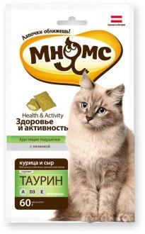 Подушечки Мнямс Здоровье и активность (курица и сыр), 60 г