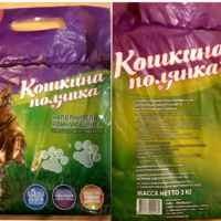 Наполнитель Кошкина Полянка комкующийся бентонитовый, 3 кг