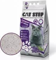 Наполнитель Cat Step минеральный Compact White Lavender, 5л