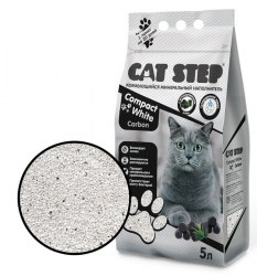 Наполнитель Cat Step Compact White Carbon, 5л
