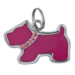 Брелок-украшение TRIXIE адресный для собаки, в виде собаки со стразами, металл