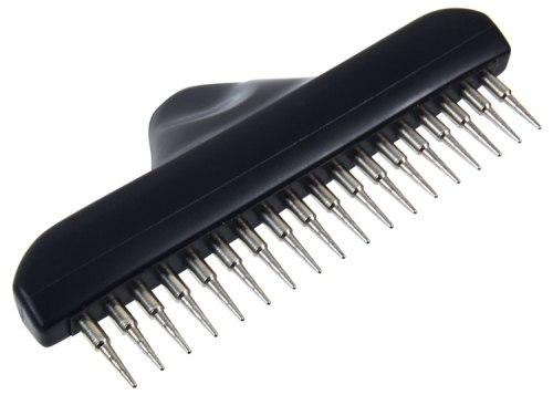 Металлический грумер TRIXIE для ухода за шерстью, с вращающимися зубьями, 13 см