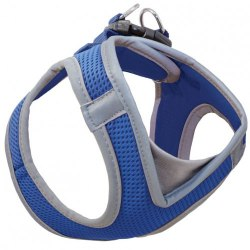 Шлейка-жилетка Triol мягкая нейлоновая синяя M, обхват груди 410-460мм