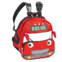 "Рюкзак-шлейка MINI DOGS для собак мелких пород ""Автобус"" М, 170*150*170мм, обхват груди 450-550мм"