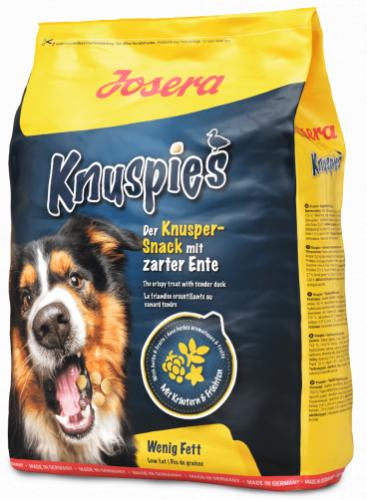 Снеки Josera Knuspies (27/6), дрессировочные для собак, мясо утки 900 гр