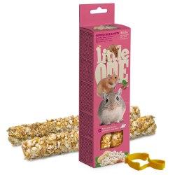 Палочки Little one для хомяков, крыс, мышей и песчанок с воздушным рисом и орехами, 2*55г