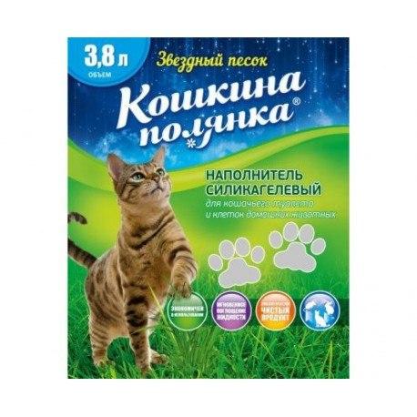Наполнитель Кошкина Полянка силикагелевый 3,8 л