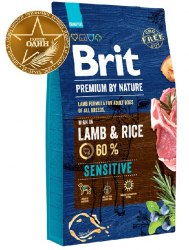 Сухой корм Brit Premium by Nature Lamb&Rice Sensible НА РАЗВЕС 100 г