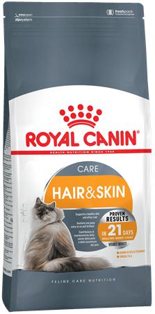 Сухой корм Royal Canin HAIR & SKIN - 0,4 кг