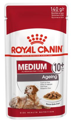 Влажный корм Royal Canin Medium Ageing 140г/10шт, в соусе