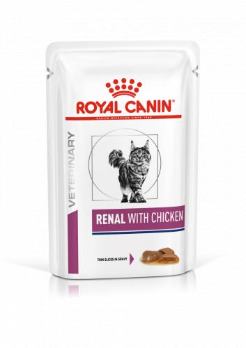 Влажный корм Royal Canin RENAL FELINE CHICKEN 85г/12 шт
