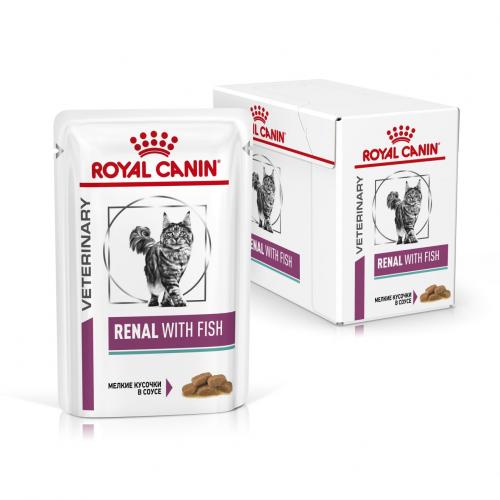 Влажный корм Royal Canin RENAL FELINE FISH, 85 г/12 шт