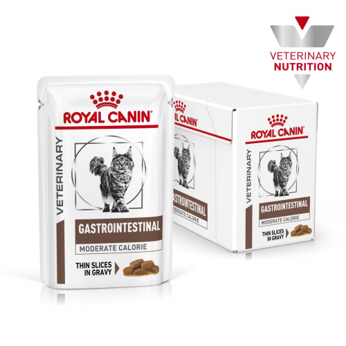 Влажный корм Royal Canin MODERATE GASTRO INTEST FELINE 85г/12 шт