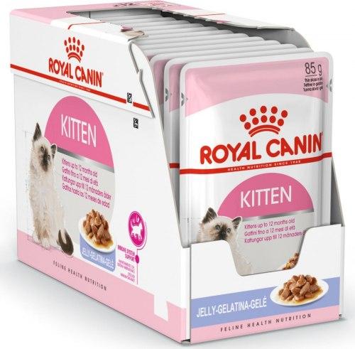 Влажный корм Royal Canin KITTEN in JELLY 85г/12 шт