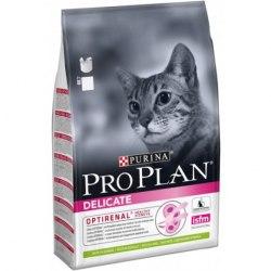 Сухой корм Pro Plan DELICATE для взрослых кошек с чувствительным пищеварением, с ягненком 10 кг