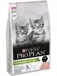 Сухой корм Pro Plan Kitten Sterilised с лососем, 10 кг