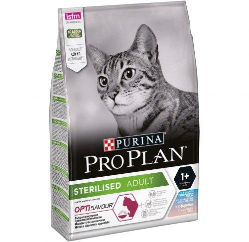 Сухой корм Pro Plan STERILISED (треска, форель) - 0,4 кг