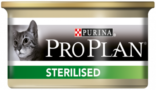 Консерва Pro Plan для стерилизованных кошек с тунцом и лососем 85г/6шт (банка)