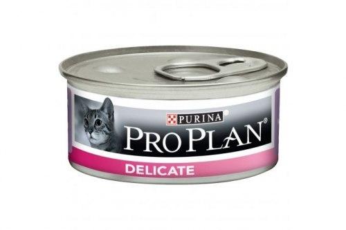 Консерва Pro Plan для взр.кошек с чувствительным пищеварением, с индейкой 85г/6шт (банка)