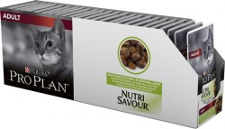 Консерва Pro Plan для взрослых кошек, кусочки с ягненком в желе 1 шт/85г